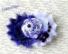 Purple and White Beaded Newborn Headband,Baby Headband,Girls Headband, Ladies Brooch, Ladies Hair Clip, Photo Prop.