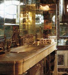 "Montolli Atelier on Instagram: ""Bathroom with precious marble. #montolli_atelier #luxurybathroom #luxuryinteriors #stone #marble #homedecor"" Masculine Bathroom, Luxury Interior, Marble, Stone, Instagram, Home Decor, Atelier, Rock, Decoration Home"