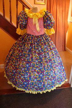 Pantomime dame costume.
