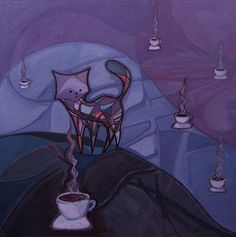 El espresso de la noche. The espresso of the night.