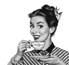 retro tea me Coffee Talk, I Love Coffee, Coffee Break, My Coffee, Drink Coffee, Cuban Coffee, Monday Coffee, Coffee Today, Coffee Life