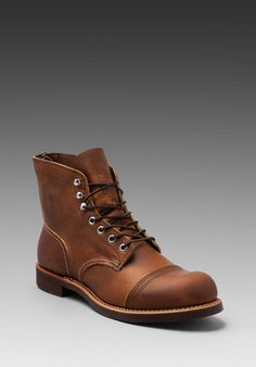 RED WING SHOES Iron Ranger in Copper Rough & Tough at Revolve Clothing