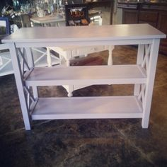 Blue gray console table $125
