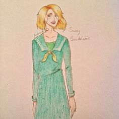 Grown Up Sunny Baudelaire by Anna Hyde @anaheeds.art on imgrum.org