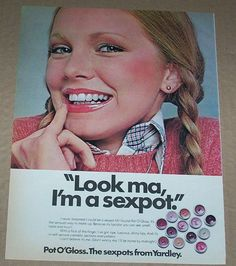 Completely inappropriate 1976 ad page -Yardley of London