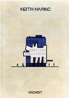 Obras de arte famosas transformadas en edificios por Federico Babina…