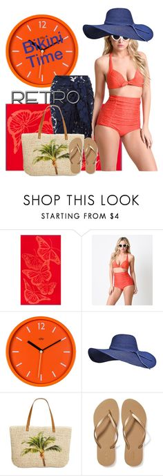"""retro bikini style"" by daincyng ❤ liked on Polyvore featuring Wild & Wolf, Retrò, Style & Co., Old Navy and BikiniTime"