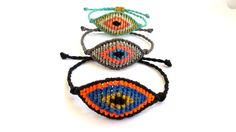 Items similar to Macrame Bracelet, Evil Eye Macrame Bracelet, Micromacrame Jewerly on Etsy Evil Eye Bracelet, Macrame Bracelets, Hamsa, Jewerly, Crochet Earrings, Crochet Hats, Beanie, Eyes, Trending Outfits