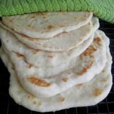 Soft, chewy flatbread - pocketless pita bread - perfect for dipping in hummus or wrapping up your favorite fillings.