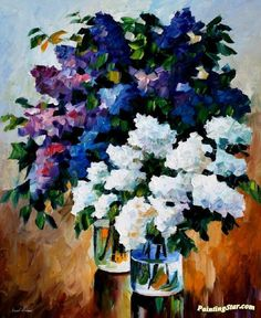Two spring colors Artwork by Leonid Afremov Hand-painted and Art Prints on canvas for sale,you can custom the size and frame
