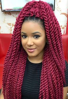 Burgundy Braids // Beauty & Hairstyle Trend by  thatdynamitechick
