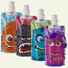 Vapur's Quencher bottles for kids are great for day hikes and lunch boxes alike! Consume the liquid and the bottle can be rolled, folded or packed down into a tiny package. These fun kid-friendly versions of the popular bottles also come with stickers so kids can personalize them. It's a convenient alternative to plastic water bottles. $13.99, www.vapur.us