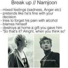 BTS Kim NamJoon Rap Monster Imagine break up