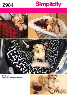 Dog Travel Accessories; Car Seat, Shopping Cart Cover, Car seat Cover Pattern by Simplicity 2984 TLC's Treasures https://www.etsy.com/listing/168505024/dog-travel-accessories-car-seat-shopping?ref=shop_home_active