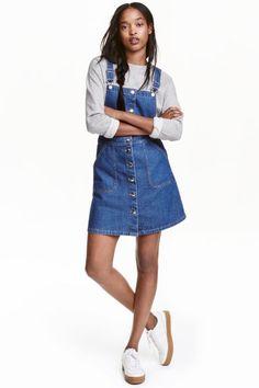 Denim dungaree dress | H&M