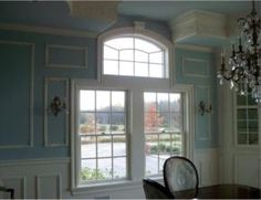 Double window with single transom