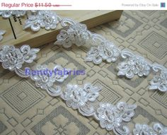 35% discount water-soluble White Bridal gown skirt veil accessories car bone lace trim beads squeins lace 9 cm wide4