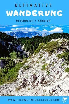 """Der Mallestiger Mittagskogel (slow. Maloško poldne) liegt in den Karawanken an der österreichisch-slowenischen Grenze. Wir haben die anspruchsvolle Tour mit leichtem Klettersteig für euch getestet! Außerdem verraten wir, was ein """"Zwölf-Uhr-Zeigeberg"""" ist. Mountains, Nature, Happiness, Travel, Outdoor, Europe Travel Tips, Road Trip Destinations, Tours, Outdoors"""