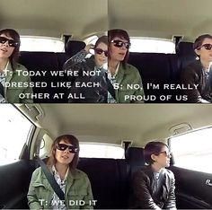 Tegan and Sara accidental twinning-- from the Carpool Confessionals web series.