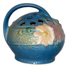 Roseville Pottery Cosmos Blue Flower Frog click the image or link for more info. Roseville Pottery, Mccoy Pottery, Pottery Plates, Vintage Pottery, Pottery Vase, Hull Pottery, Pottery Clay, Slab Pottery, Pottery Studio