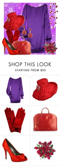 """""""Red Hat Society"""" by queenofthegypsies ❤ liked on Polyvore featuring moda, Alexander McQueen, Louis Vuitton y Steve Madden"""