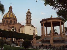 Main Plaza in La Piedad, Michoacan. Mexico.