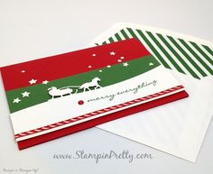 stampin up holiday christmas card ideas sleigh ride edgelits dies mary fish stampin pretty stampinup demonstrator blog envelope liner