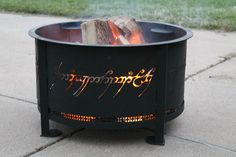 A One Ring Fire Pit To Rule Them All! Haha ok I don't know if I really want this but it's funny!