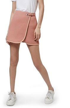 Topshop Airtex Wrap Miniskirt