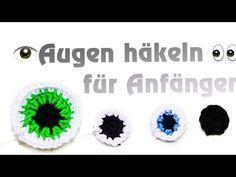 Augen häkeln lernen - Amigurumi Anfänger - Küma Tutorial Designs
