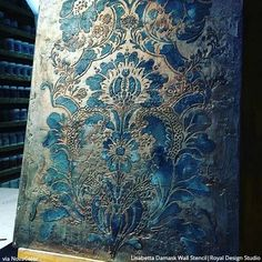 Large Floral Damask Wall Stencils - DIY Wallpaper Look – Royal Design Studio Stencils Damask Wall Stencils, Large Wall Stencil, Stencil Diy, Stencil Painting, Wall Stenciling, Stencil Designs For Walls, Wall Stencil Patterns, Diy Tapete, Art Mural
