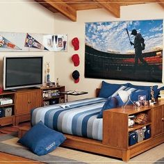 Young Man Bedroom Ideas bedroom , cool bedrooms for young men : sport theme bedrooms for