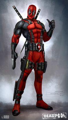 Concept art for video game Deadpool by Billy King Deadpool Movie Poster, Deadpool Film, Deadpool Art, Deadpool Stuff, Marvel Dc Comics, Marvel Art, Marvel Heroes, Comic Book Characters, Marvel Characters