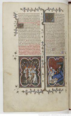 Grandes Chroniques de France Fol 409v, 1375-1380, Henri du Trévou & Raoulet d'Orléans