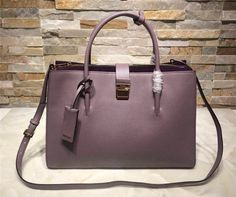 Miu Miu Purple Calfskin (R1103C) Tote 2015 8e54f56ff5