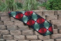 Quilted Holiday Table Runner Pineapple Christmas by MonkeyMuffin