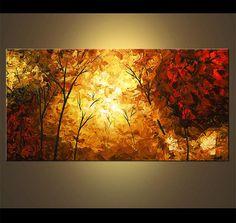 Landscape Painting Modern Palette Knife Painting por OsnatFineArt
