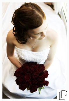 red rose bouquet, love  the dark red tone