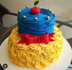 Snow white cake Blanca Nieves pastel