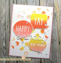 Prairie Paper & Ink: Ombre Stamping | MFT Birthday Speech Bubbles | Color Throwdown #403