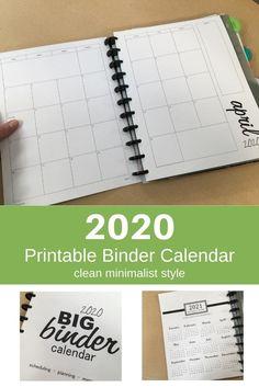 2021 Mini Printable Pocket Calendar Minimalist Style ...
