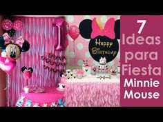 7 ideas para fiesta Minnie Mouse - YouTube