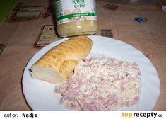 Celerový salát ze sterilovaného celeru recept - TopRecepty.cz Worcester, 3 D, Salads, Dairy, Cheese, Salad, Chopped Salads