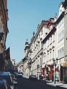 Streets in the City of Prague, Czech Republic 2011