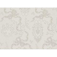 Set de table Cérémonie Garnier-Thiebaut - Modèle : Mille rubans - Set de table en coton anti-tache - Coloris : ivoire