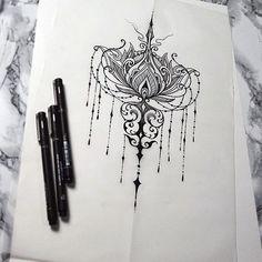 эскизы татуировок лотос