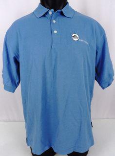 "NWT Nike Golf Dri-Fit Mens M Polo Shirt Blue SS ""Point O Woods"" Logo Swoosh Logo #NikeGolf #PoloRugby"