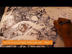 Tony Leonard: Intro & Sculpting for Line Art - Part 1 - YouTube