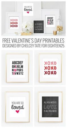 Free Valentine's Day Prints - decorations for Valentine's Day!