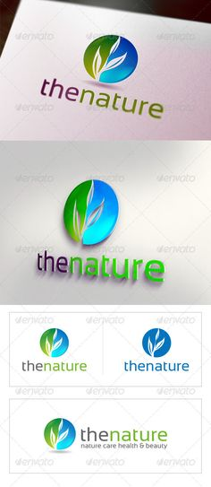 the nature graphicriver the nature the nature logo is a best logo for health